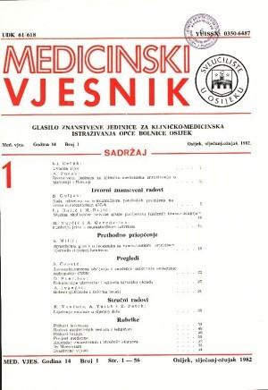 God. 14, br. 1(1982) : Medicinski vjesnik