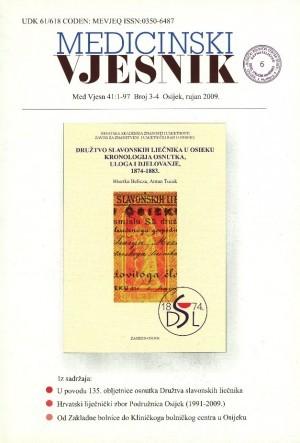 Sv. 41, br. 3-4(2009) : Medicinski vjesnik