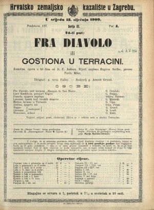 Fra diavolo ili Gostiona u Terracini Komična opera u tri čina