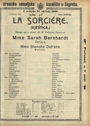 Vještica Drama iz inkvizitorskih vremena u pet činova  =  La sorciere