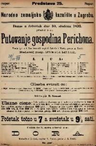 Putovanje gospodina Perichona Vesela igra u 2 čina / francezki napisali Labiche i Martin