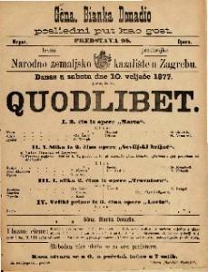 Quodlibet I. 2. čin iz opere Marta