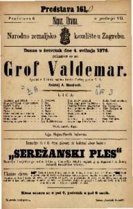 Grof Valdemar igrokaz u 5 činah / napisao Gustav Freitag