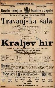 Kraljev hir Opereta u jednom činu / uglasbio Ivan pl. Zajc