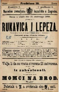 Rukavica i lepeza Vesela igra u 3 čina / od Bayarda i Sauvage-a