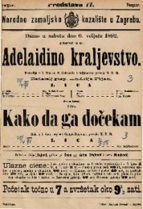 Adelaidino kraljevstvo Komedija u 2 čina / od F. Gehrardia