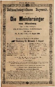 Die Meistersinger von Nürnberg Oper in drei Aufzügen