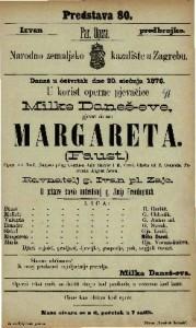 Margareta (Faust) : opera u 5 činah / napisao polag Goethe-a Julio Barbier i M. Caree / glasba od T. Gounoda