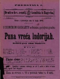 Puna vreća ludorijah Vesela igra u 4 čina / napisao Fr. pl. Schönthan