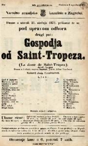 Gospodja od Saint-Tropeza : drama u 5 činah