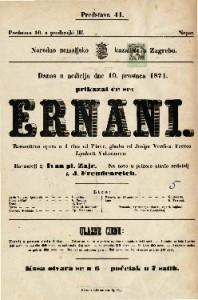 Ernani Romantična opera u 4 čina / od Piave ; glasba od Josipa Verdi-a