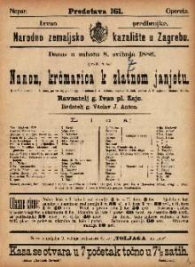 Nanon, krčmarica k zlatnom janjetu Komična opera u 3 čina / uglasbio Richard Genée