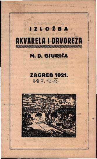 Izložba akvarela i drvoreza M. D. Gjurića
