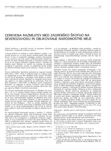 Cerkvene razmejitev med zagrebško škofijo na severozahodu in oblikovanje narodnostne meje