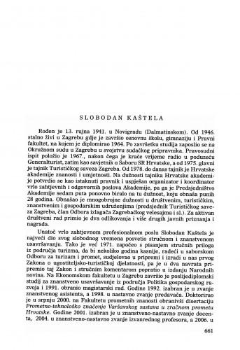 Slobodan Kaštela : Ljetopis
