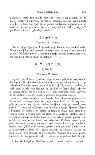 Koprivnica ; Kotari : vile ; vještice : Zbornik za narodni život i običaje