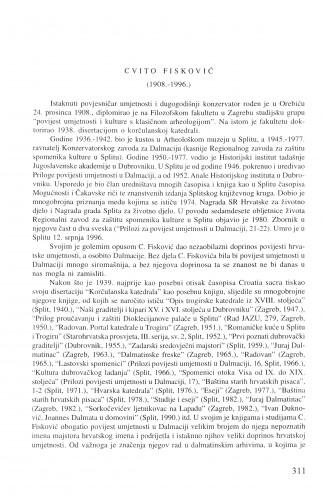 Cvito Fisković (1908.-1996.) / Kruno Prijatelj