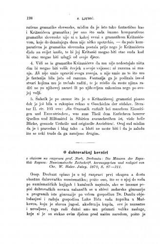 O dubrovačkoj kovnici s obzirom na raspravu prof. Norb. Dechanta: Die Münzen der Repulik Ragusa: Numismatische Zeitschrift, herausgegeben und redigirt von Chr. W. Huber. Jahrg. 1870 : RAD