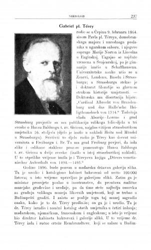Gabriel pl. Terey : [nekrolog] / G. Manojlović