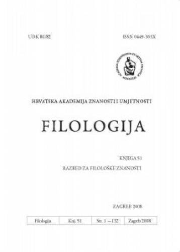 Knj. 51(2008) : Filologija : časopis Razreda za filološke znanosti Hrvatske akademije znanosti i umjetnosti