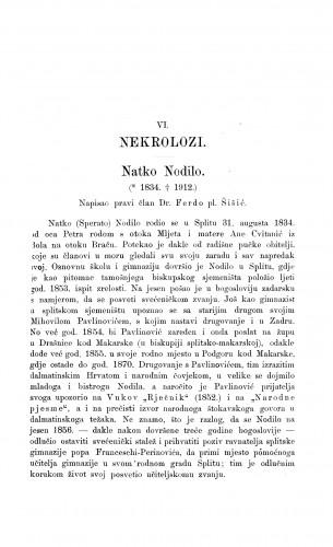 Natko Nodilo : [nekrolog] / F. Šišić