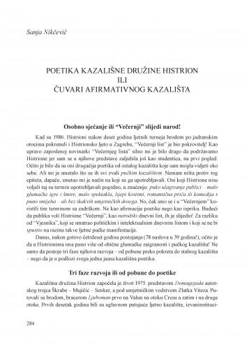 Poetika Kazališne družine Histrion ili čuvari afirmativnog kazališta : Krležini dani u Osijeku
