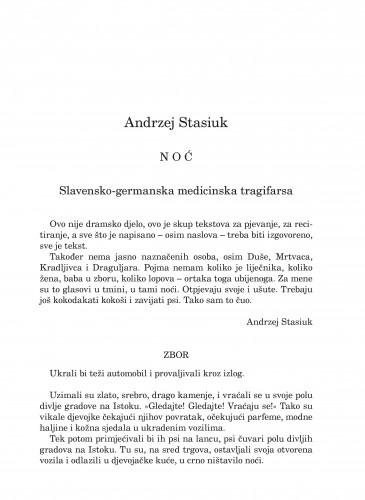Noć : slavensko-germanska medicinska tragifarsa : Forum : mjesečnik Razreda za književnost Hrvatske akademije znanosti i umjetnosti.