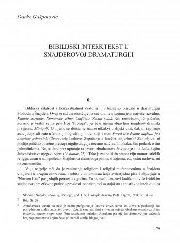 Biblijski intertekst u Šnajderovoj dramaturgiji : Krležini dani u Osijeku