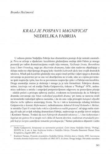 Kralj je pospan i Magnificat Nedjeljka Fabrija : Krležini dani u Osijeku