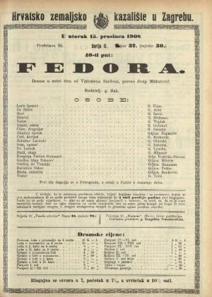 Fedora Drama u četiri čina