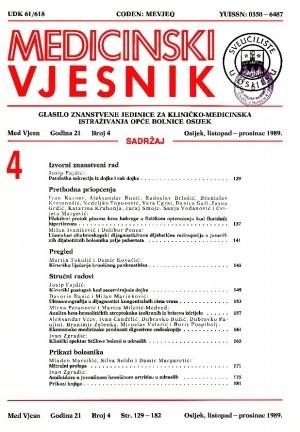 God. 21, br. 4(1989) : Medicinski vjesnik