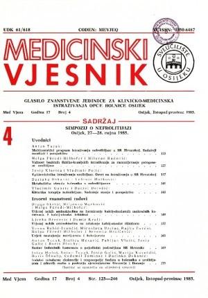 God. 17, br. 4(1985) : Medicinski vjesnik