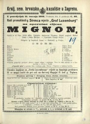 Mignon : Opera u tri čina (4 slike)