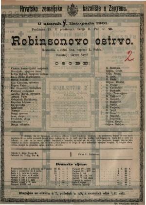 Robinsonovo ostrvo komedija u četiri čina / napisao L. Fulda