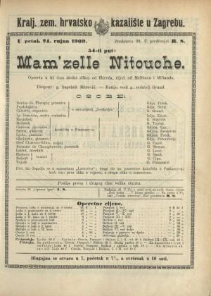 Mam'zelle Nitouche : Opereta u 4 čina (4 slike)