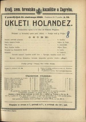 Ukleti Holandez Romantična opera u tri čina / Napisao R. Wagner  =  Der fliegende Holländer