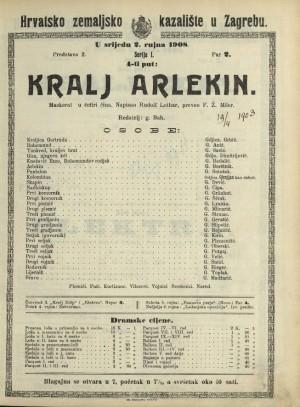 Kralj Arlekin Maskerat u četiri čina