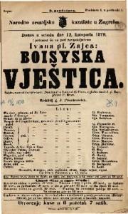 Boisyska vještica Šaljiva romantična igro-opera (Spieloper) u 3 čina / E. Costa