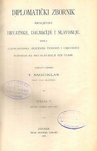 Sv. 5: Listine godina : 1256-1272 : Diplomatički zbornik Kraljevine Hrvatske, Dalmacije i Slavonije