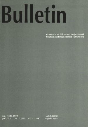 God. 42, br. 1(60) (1994) : Bulletin Razreda za likovne umjetnosti Hrvatske akademije znanosti i umjetnosti