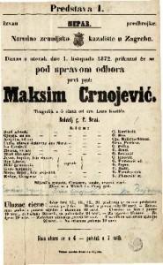 Maksim Crnojević tragedija u 5 činah / od dra Laze Kostića