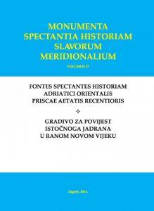 Spisi zadarskoga bilježnika Antonija Calogere (1768.-1770.) : svezak I : Monumenta spectantia historiam Slavorum meridionalium