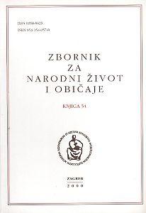 Knj. 54 (2000) : Kijevo : narodni život i tradicijska kultura : Zbornik za narodni život i običaje