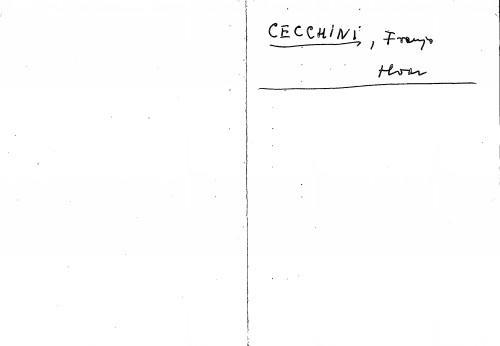 Cecchini Franjo Hvar