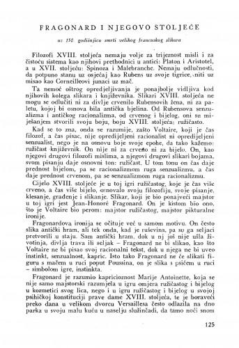 Fragonard i njegovo stoljeće : Bulletin Instituta za likovne umjetnosti Jugoslavenske akademije znanosti i umjetnosti