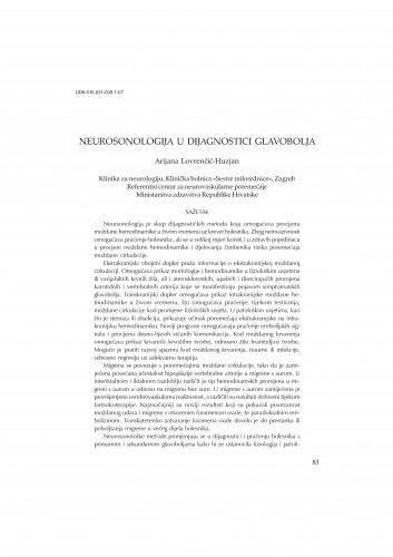 Neurosonologija u dijagnostici glavobolja