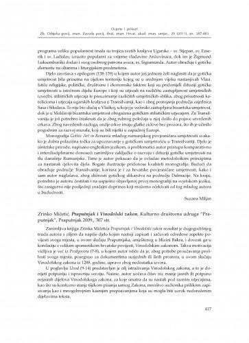 Zrinko Mičetić, Praputnjak i Vinodolski zakon, Kulturno društvena udruga