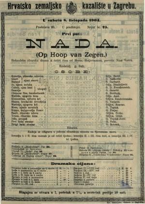 Nada holandska ribarska drama u četiri čina / od Herm. Heijermansa  =  Op Hoop van Zegen