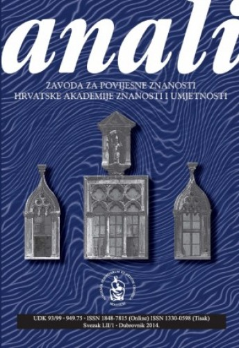 Sv. 52/1 (2014) : Anali Zavoda za povijesne znanosti Hrvatske akademije znanosti i umjetnosti u Dubrovniku