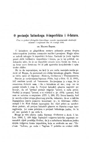 O postanju latinskoga b-imperfekta i b-futura